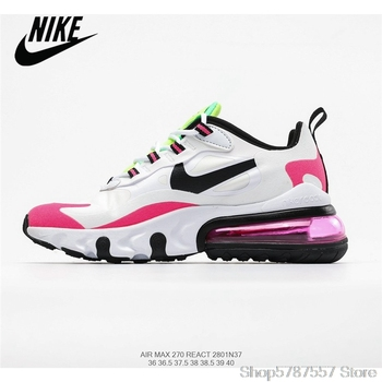 Nike Air Max 270 React Women's Breathable Mesh Running Shoes Size 36-39