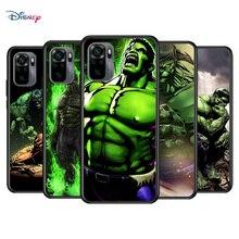 Marvel Avengers Super Hero Hulk dla Xiaomi Redmi uwaga 10S 10 9T 9S 9 8T 8 7S 7 6 5A 5 Pro Max miękka TPU silikonowa czarna obudowa telefonu