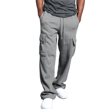 Fashion Casual Spring Fall Mens Pants Pantalones Hombre Men Sports Pants Casual Loose Solid Color Soft Trousers New