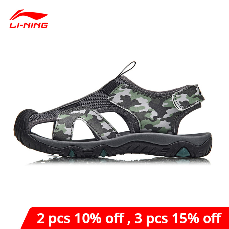 Li-Ning Children's Aqua Shoes Outdoor Sandals Breathable Camouflage LiNing Kids Li Ning Sport Shoes Sneakers YKUN006 XTL036