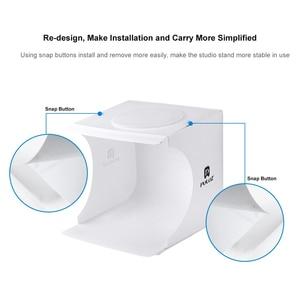 Image 4 - Profession Mini boîte à lumière pliante photographie Studio Softbox 2 lumière LED boîte souple Kit de fond Photo pour appareil Photo reflex numérique