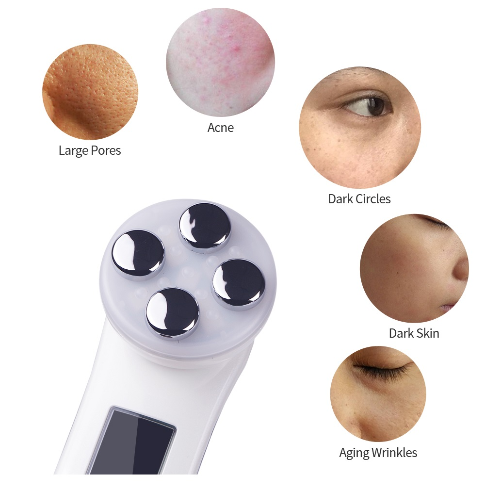 Foreverlily 5in1 RF&EMS Radio Mesotherapy Electroporation Face Beauty Pen Radio Frequency LED Photon Face Skin Rejuvenation Remover Wrinkle 3