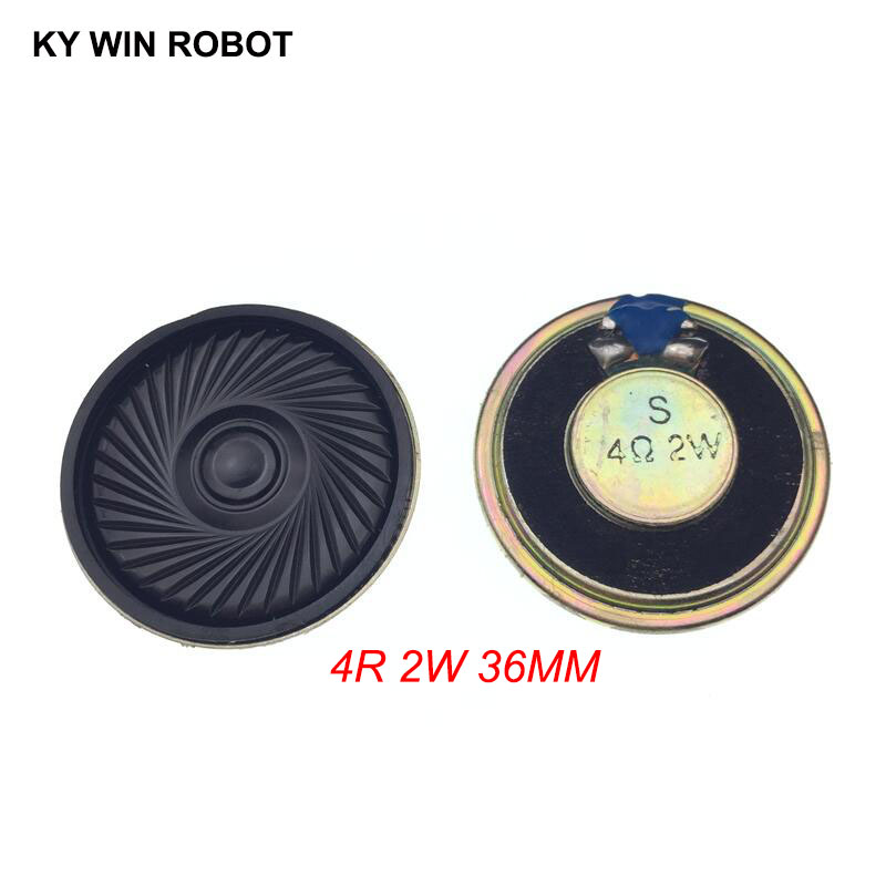 2pcs/lot New Ultra-thin Mini Speaker 4 Ohms 2 Watt 2W 4R Speaker Diameter 36MM 3.6CM Thickness 5MM