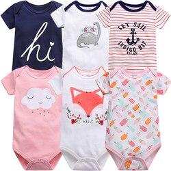 Unissex bebê menino menina macacão 1/2/3 pçs algodão recém-nascido macacão infantil bodysuit dos desenhos animados roupas animais bebe conjunto 2021 verão