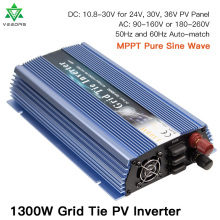 Micro 1300W Solar Inverter MPPT On Grid Tie inverter Pure Sine Wave Input 18/24/36V Output 110/220V For Wind Generator Battery