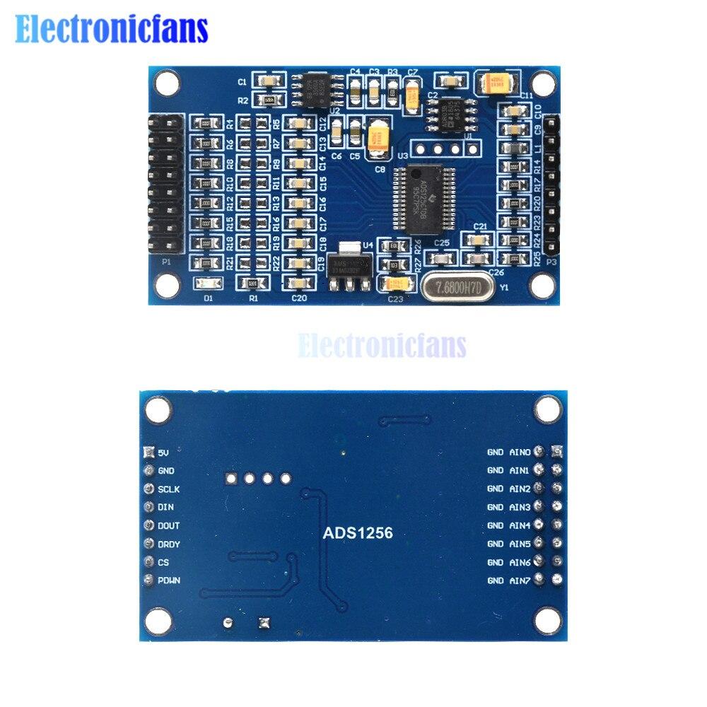 Высокая точность ADS1256 24 бит 8-канальный сетевой видеорегистратор АЦП сбора данных модуль AD сбора данных плата сбора данных
