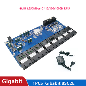 Image 5 - 10/100/1000M 8 Sc 2 RJ45 Utp Gigabit Ethernet Switch Ethernet Fiber Optische Media Converter 8 poort 1.25G Sc Pcba Board 5V3A