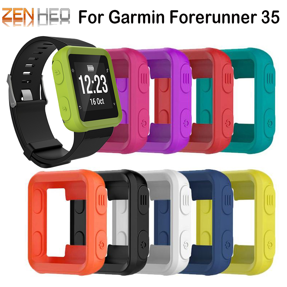 For Garmin Forerunner 35 Silicone Case Smart Watch Protector Cover Sport Watch For Garmin Forerunner 35 Protection Shell Frame