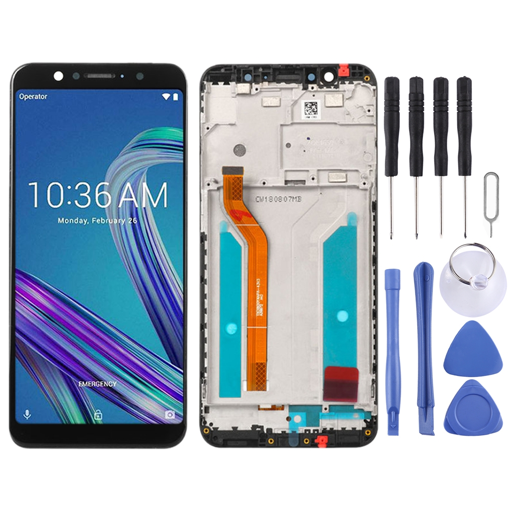 <font><b>LCD</b></font> Display Touch Screen Repair <font><b>LCD</b></font> Screen and Digitizer Full Assembly with Frame for Asus ZenFone Max Pro (M1) ZB601KL <font><b>ZB602KL</b></font> image