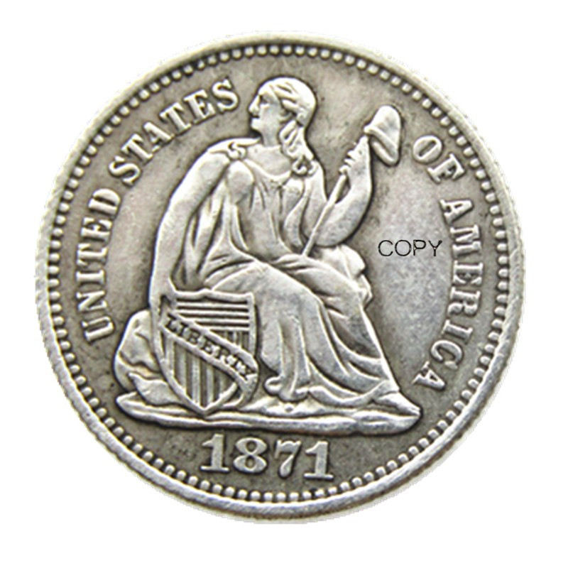 USA 1871P/S(Mintmark Above) Liberty Seated Half Dime Legend Obverse Copy Coins