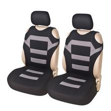 цена на 2pcs Universal Car Seat Covers-Front Seat Covers Mesh Sponge Interior Accessories T Shirt Design Styling Car Seat Protector