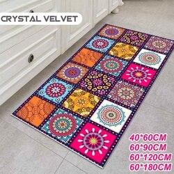 Antiderrapante estilo boêmio floral padrão tapete tapete sala de estar varanda banheiro cozinha quarto tapete