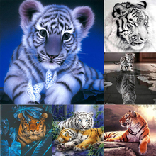 3D Embroidery Diamond-Painting Cross-Stitch Tiger Animal Gift Home-Decor Square/round-Drill