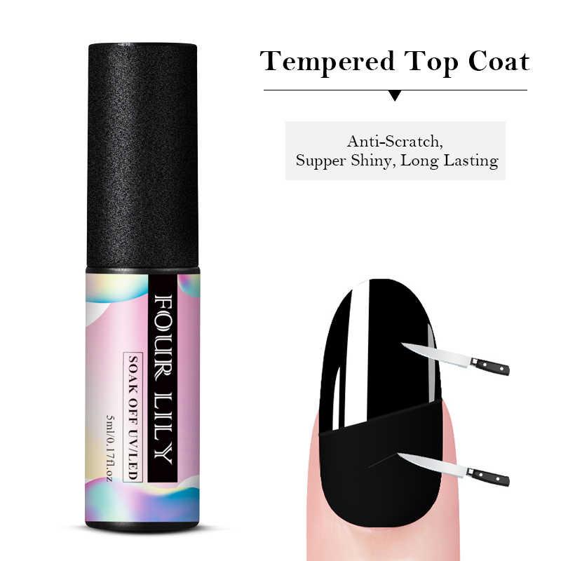 Vier Lelie Uv Gel Nagellak Top Base Coat Vernissen Nail Gel Primer Langdurige Losweken Led Gel Nail art Manicure Lak