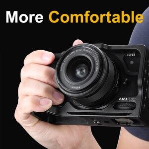 Image 3 - UURig אלומיניום מצלמה כלוב עבור Canon M6 Mark II עם 1/4 3/8 חוט חור Vlog כלוב עבור מיקרופון LED אור