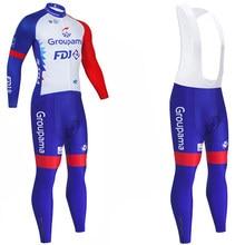 Kış takım 2021 FDJ bisiklet forması 20D bisiklet pantolon Ropa Ciclismo termal polar Pro bisiklet giyim Maillot giyim