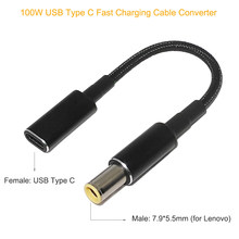 100w usb tipo c cabo de cabo de carregamento rápido para lenovo thinkpad t61 t60 t420 t430 USB-C a 7.9x5.5mm adaptador de alimentação do portátil conector