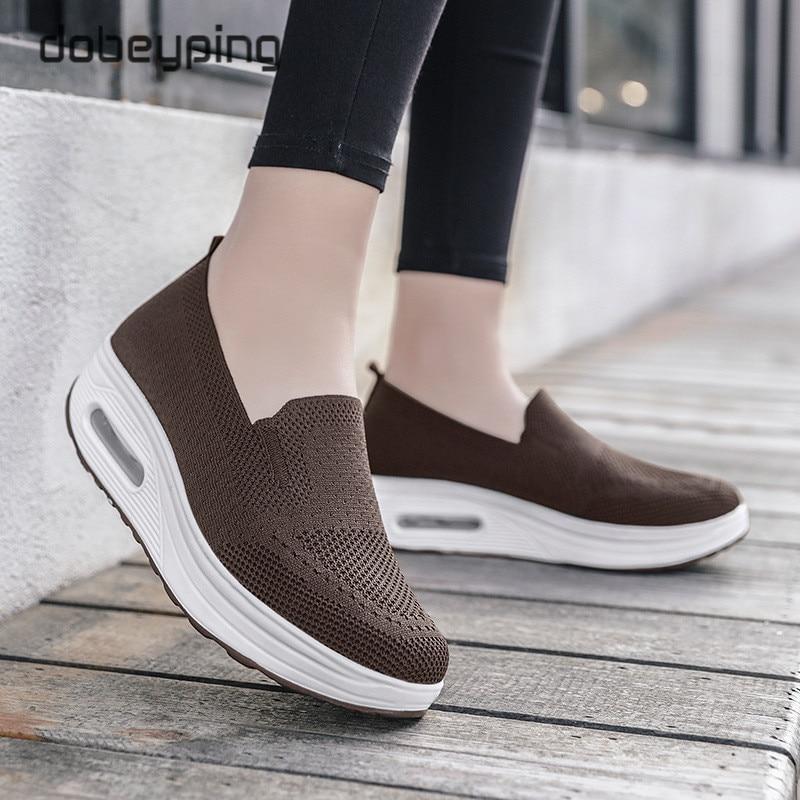Женская обувь для танцев; сезон весна осень; женские лоферы из сетчатого материала; женская обувь на плоской платформе; женская обувь на танкетке; кроссовки, увеличивающие рост Обувь без каблука      АлиЭкспресс