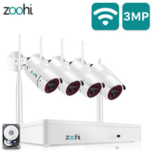 WIFI Camera Surveillance-Kit Zoohi Night-Vision Home-Security Wireless Video 1080P 8CH