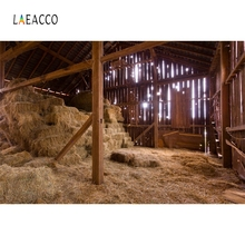 Laeacco Straw Shed Hay Stack Harvest Rural Photo Backgrounds Customized Vinyl Digital Photography Backdrops For Studio