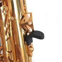 Alta qualidade de borracha saxofone preto polegar resto saver almofada protetor dedo confortável para alto tenor soprano saxofones