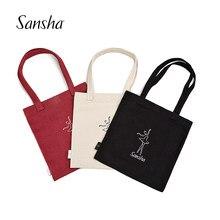 Sansha dança reciclar saco ao meio ambiente reutilizável dança ginásio esportes saco de compras para meninas 92ba1000c
