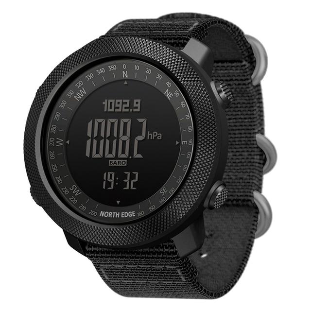 North Edge Men Sports Watches Waterproof 50M LED Digital Watch Men Military Compass Altitude Barometer 1