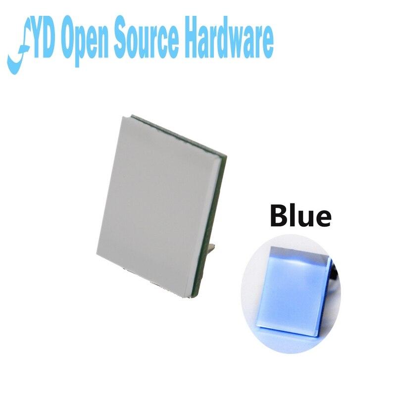 Емкостный сенсорный модуль переключателя с сильной защитой от помех, 2,7-6 в, синий цвет, 1 шт.