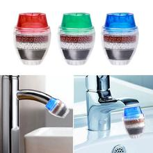 1pc Activated Carbon Round Faucet Water Tap Filter Clean Purifier Filtration for Home Household Kitchen Random Color
