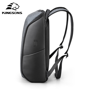 Image 4 - Kingsons Multifunction Men 15 inch Laptop Backpacks  Fashion Waterproof Travel Backpack Anti thief male Mochila school bags hot