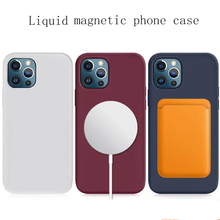 Case For iPhone 12 Pro Max Case For Magsafe Wireless Charger Shockproof Full Protection Liquid Silicone Case For iPhone 12 Mini