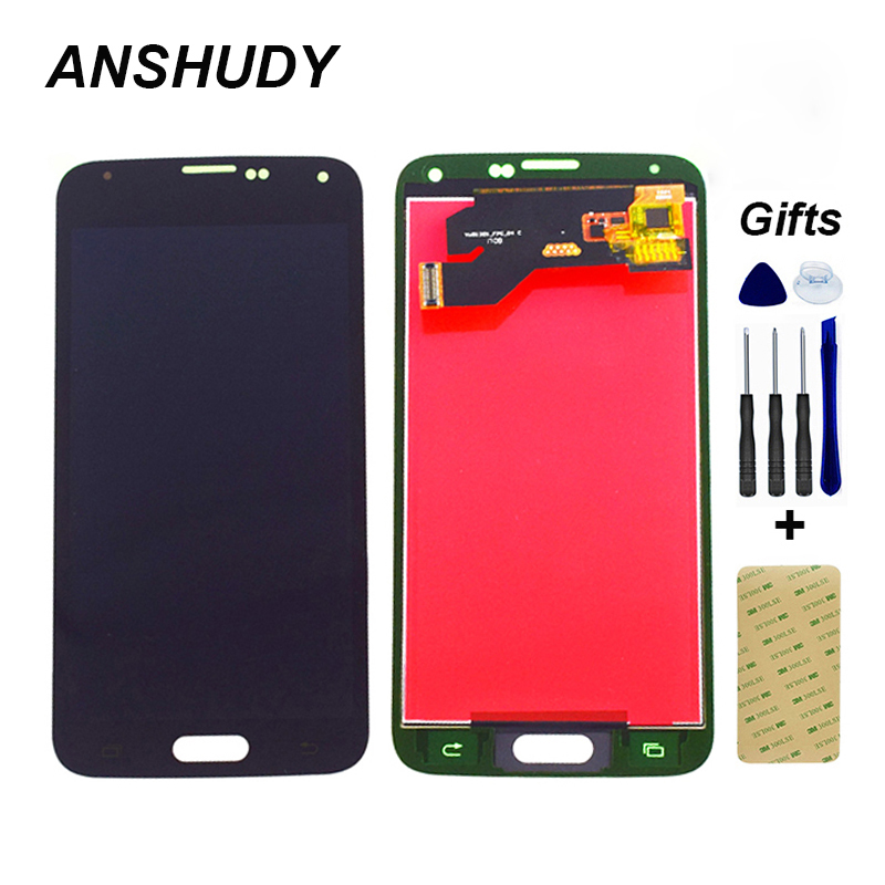For <font><b>Samsung</b></font> Galaxy S5 G900 LCD G900A G900P G900T G900V <font><b>G900F</b></font> LCD <font><b>Display</b></font> Panel Module + Touch Screen Digitizer Sensor Assembly image