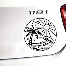 Прямая поставка Пляжная забавная наклейка для автомобилей автомобильная