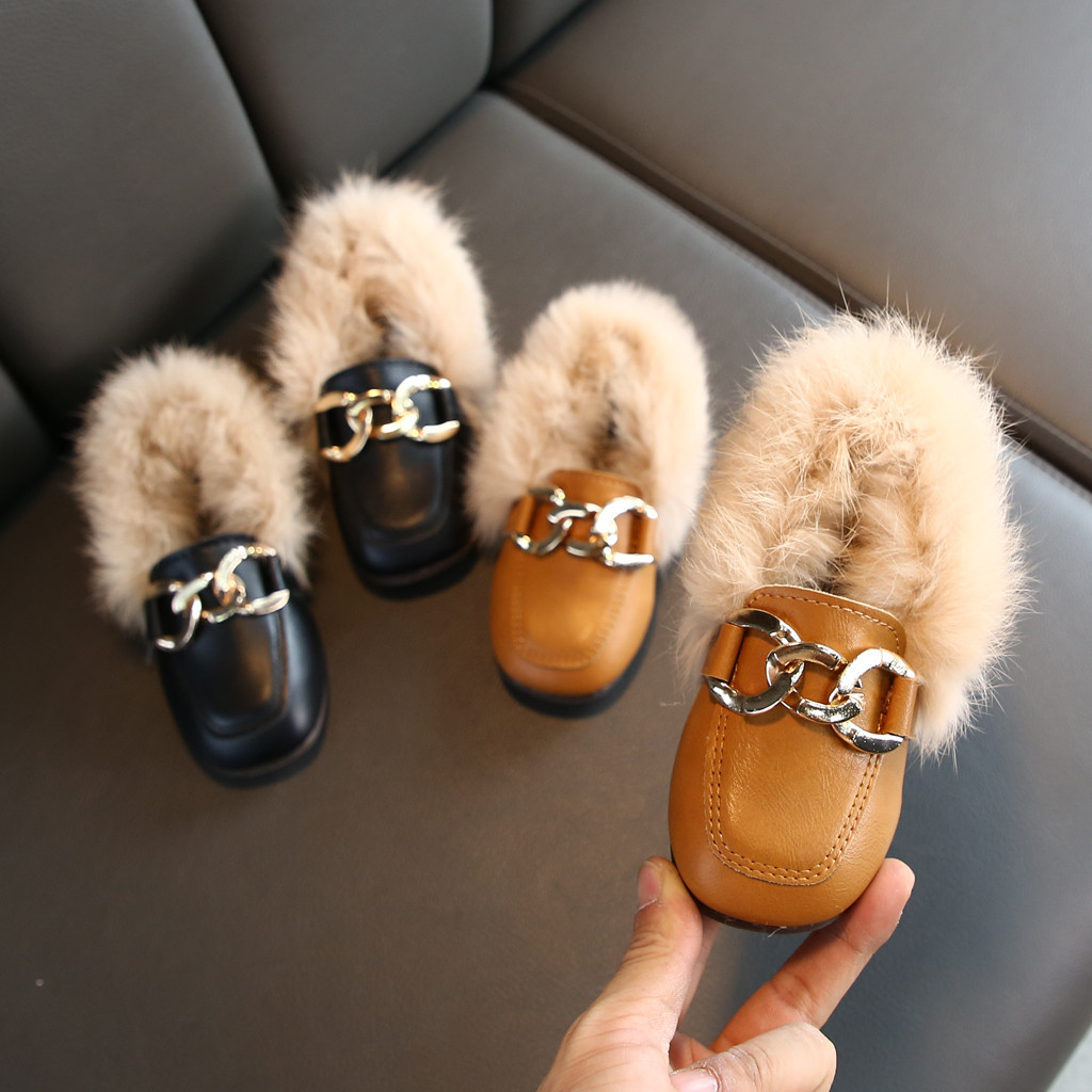 Toddler Infant Kids Baby Boys Girls Casual Winter Warm Plush Furry Hairy Shoes Leisure Boots Kids Shoes Sapato Infantil детская