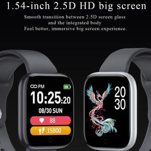 Image 3 - Reloj inteligente T85 con pantalla a Color, pulsera deportiva con control del ritmo cardíaco, la presión sanguínea y el oxígeno