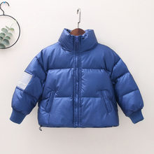 CHILDREN'S down Jacket 2019 Fall And Winter Clothes New Style Armband Thick BOY'S Girls Baby down Jacket Western Style Coat(China)