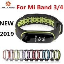 Mi Band 3 4 Strap Sport Silicone Watch Wrist Bracelet Band3 Accessories for Xiaomi Smart