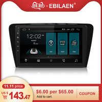 EBILAEN Auto DVD-Multimedia-Player Für Skoda Octavia A7 III 3 2014-2018 2din Android 9.0 Radio Auto Navigation GPS hinten Kamera
