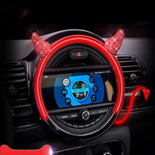 2pcs Car Steering Wheel Stickers Dercoration For Mini Cooper One S D JCW Clubman R55 R56 R61 F54 F55 F60 Car Accessories