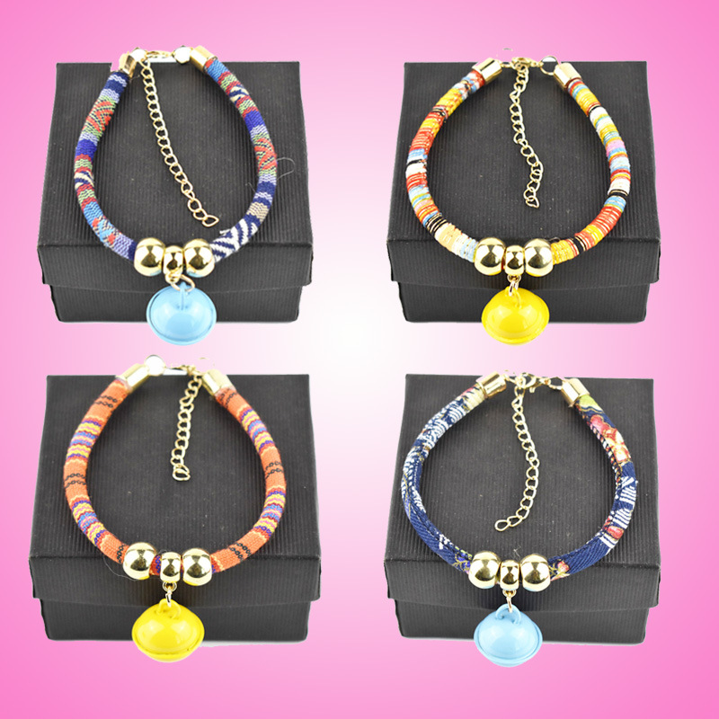 Pet Bell Neck Ring Hand-woven Dog Neck Ring Ethnic-Style Cat Bell Neck Ring