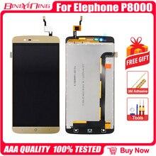 BingYeNing Novo Original Para Elephone P8000 Touch Screen + Display LCD + Quadro Substituição Assembleia
