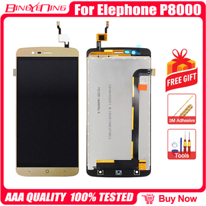 Image 1 - Bingyeng جديد الأصلي ل Elephone P8000 شاشة تعمل باللمس شاشة الكريستال السائل الإطار الجمعية استبدال