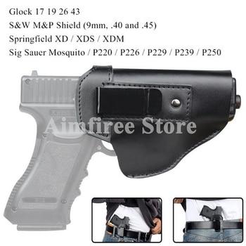 Right Leg Holster Pistol Ankle Concealed Glock 17 18 19 26 43 Holder Gun Left