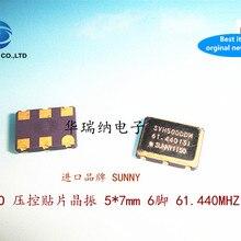 5pcs 100% new and orginal VCXO 5X7 7050 6-pin 6p 61.44M 61.44MHZ 61.440MHZ