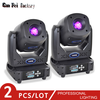цена на light dj led moving head 100W DMX spot head gobo with color prism for led bar moving head lights for sale (2pcs/lot)
