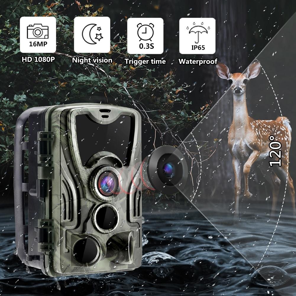 Охотничья тропа HC801A, камера для дикой природы с ночным видением, активируемая движением, наружная тропа, камера с триггером для наблюдения з...