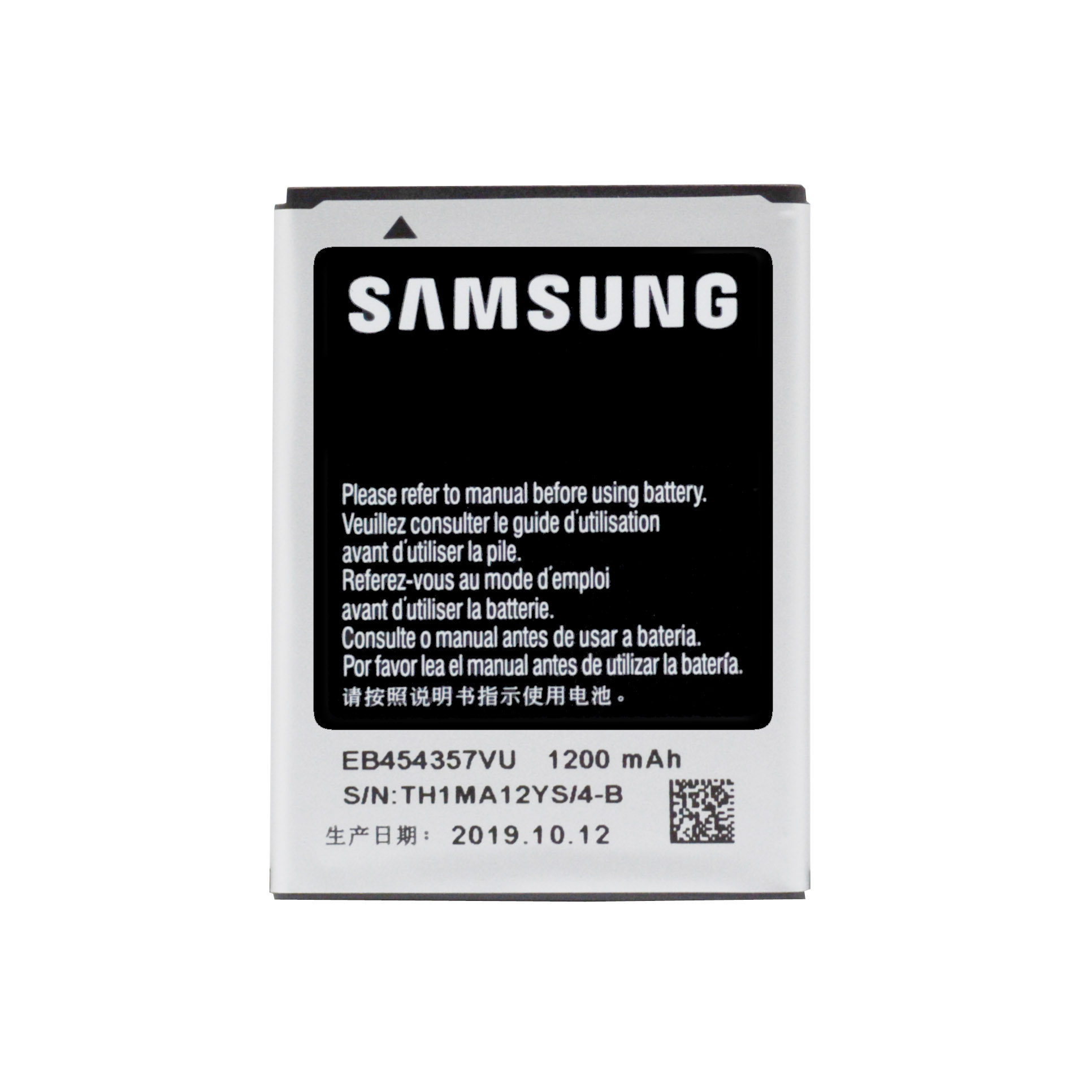 Original Replacement Battery EB454357VU For <font><b>Samsung</b></font> Galaxy Y S5360 Y Pro B5510 Wave S5380 Pocket <font><b>S5300</b></font> Chat B5330 1200mAh image