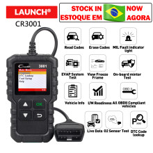 Lancement X431 Creader 3001 complet OBDII/EOBD lecteur de code scanner multilingue CR3001 voiture outil de diagnostic PK ELM 327 CR319(China)