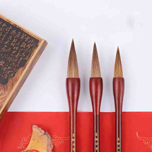Chinese Traditional Calligraphy Pen Brush Sets Regular Script Practice Couplets Multiple Hair Woolen Hopper-shaped Writing Brush