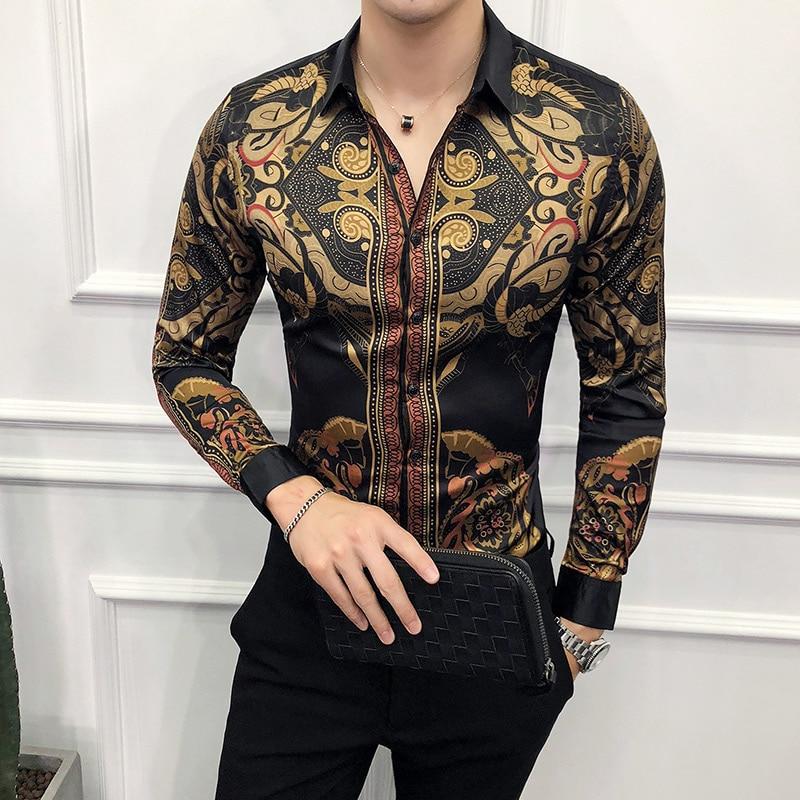 Men Casual Flower Birds Printed Cotton   Design Multi-Colors Dress HOT